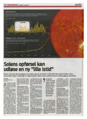 Известен датски вестник предупреждава за приближаването на малък ледников период