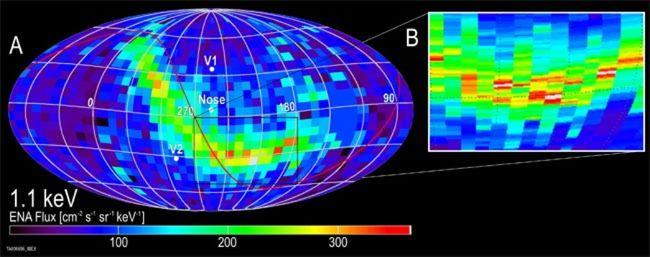 Странна енергийна лента е открита в космоса