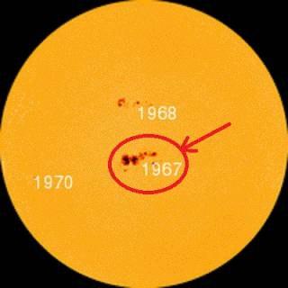 Огромното петно AR1967 е предвестник на много висока слънчева активност
