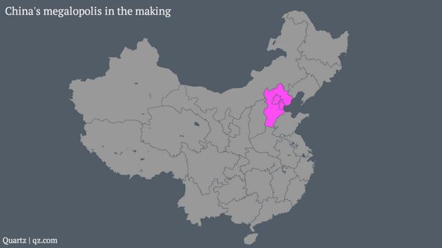 Суперград в  Китай ще е по-голям от Уругвай, а населението му- повече от това на Германия