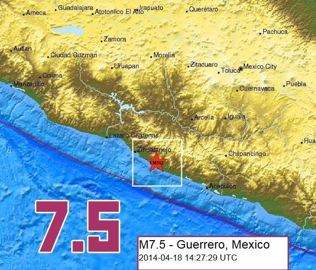 Земетресение с магнитуд 7,5 разтърси Мексико