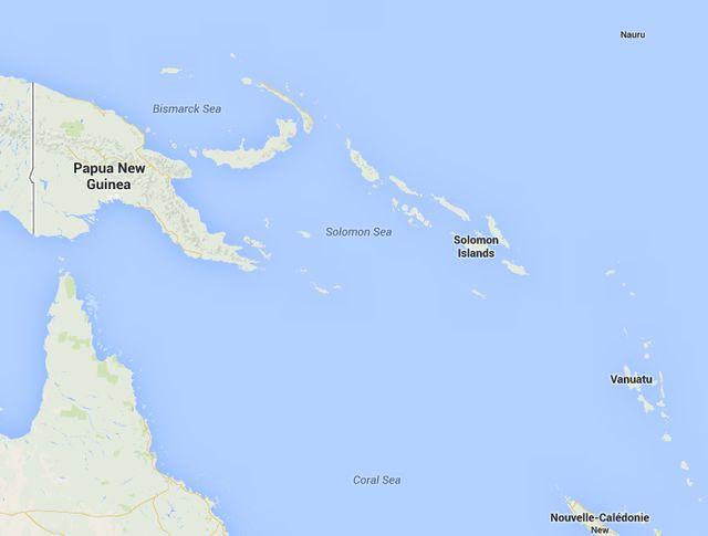 Земетресение до  Соломоновите острови с магнитуд 8.3