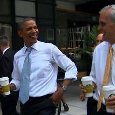 Обама избяга от Белия дом за да си купи чай (видео)