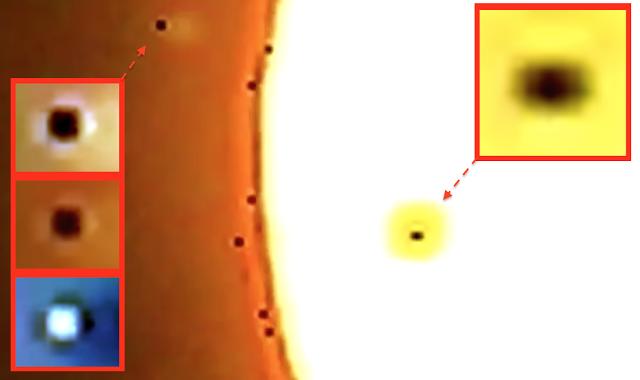 Огромен брой НЛО се налепиха за зареждане от Слънцето (видео)