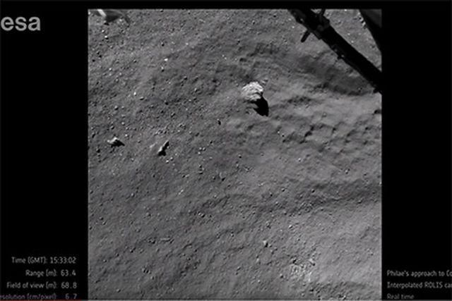ESA показа видео с кацането на Philae на кометата Чурюмов – Герасименко