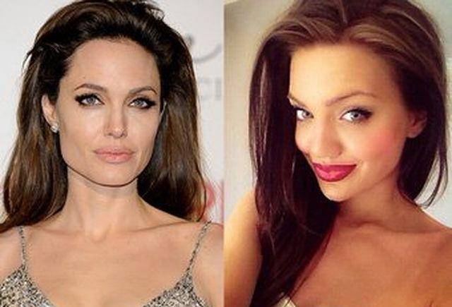 Анджелина Джоли се сдоби със своя двойничка