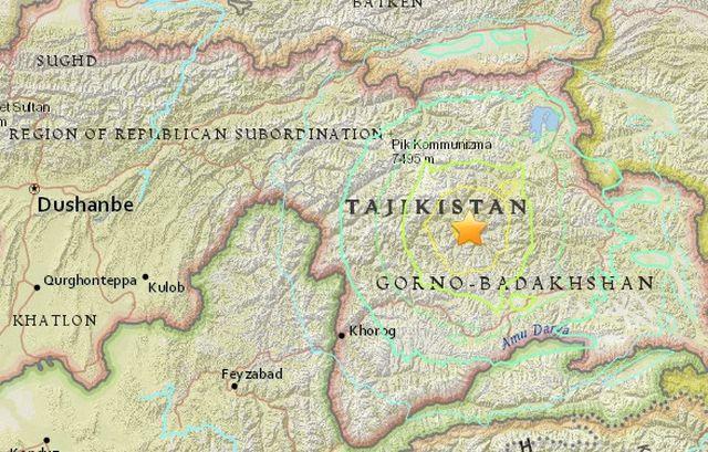 Мощно земетресение с магнитуд 7,2 разтърси Таджикистан