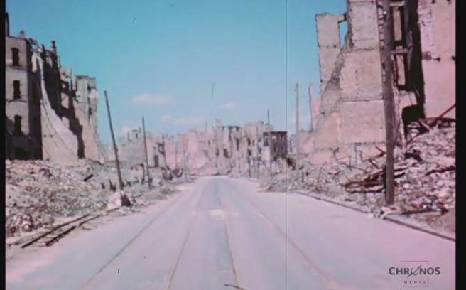 Уникални кадри от Берлин, 1945 г. (видео)