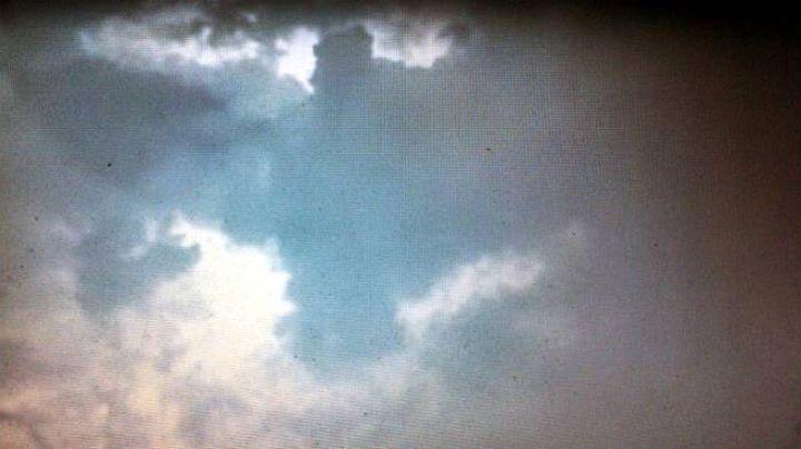 Ангел се появи в небето над Русия (видео)