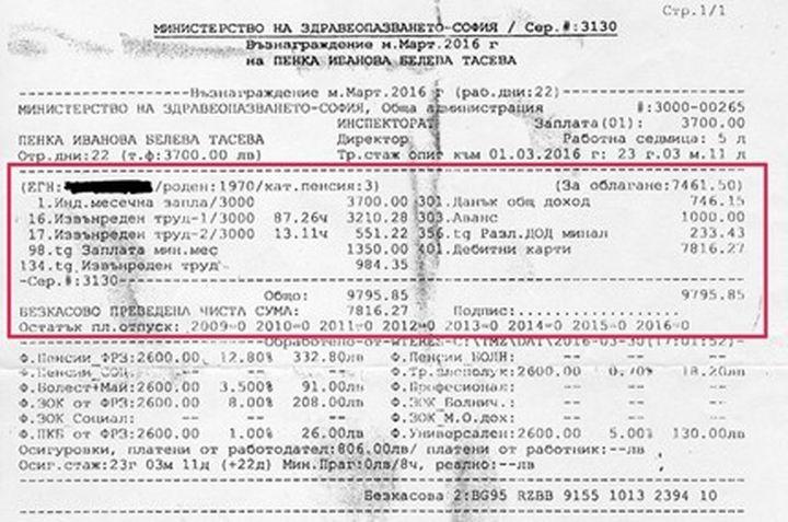 10 хиляди лева е  заплатата на здравна чиновничка