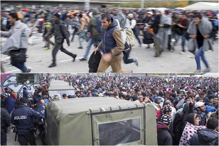 Германците стават бежанци и бягат от страната си, страхувайки се от бежанците (ВИДЕО)