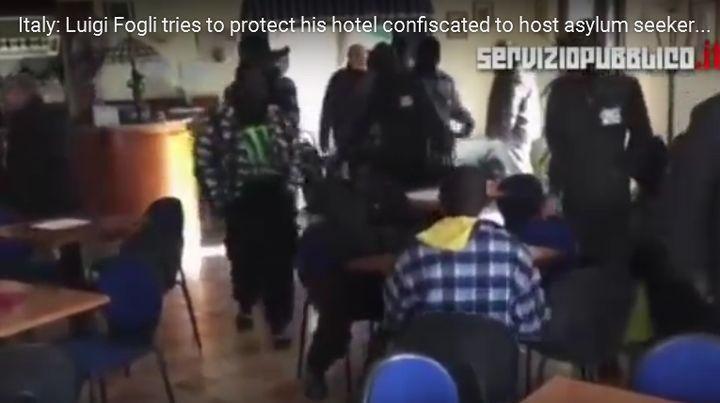 ШОКИРАЩО ВИДЕО! Настаняват ПРИНУДИТЕЛНО нелегални, против волята на собственика на хотел в Италия