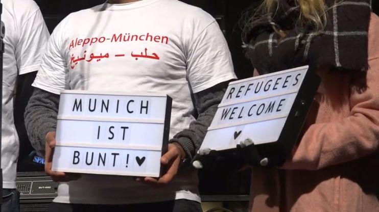 В Мюнхен хиляди хора излязоха на митинг за солидарност с  мигрантите (видео)