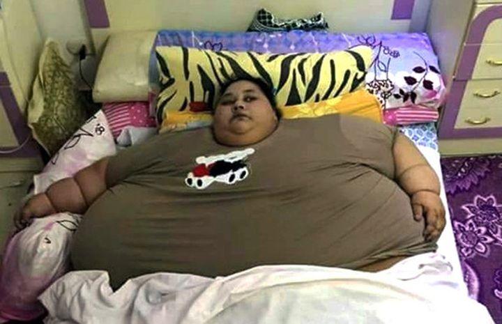 Египтянката Иман, тежаща половин тон,  напусна дома си за първи път от 25 години
