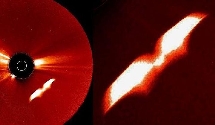 Загадъчен  крилат  обект бе заснет до Слънцето. НАСА иска хората да видят това? (видео)