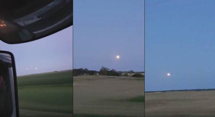 Два  НЛО в небето над Манитоба, Канада (видео)