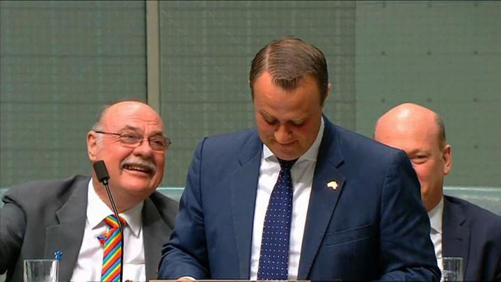 В  парламента на Австралия  се състоя еднополов годеж
